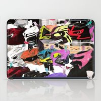wrestling iPad Cases featuring wrestling masks hand painted by lennyfdzz