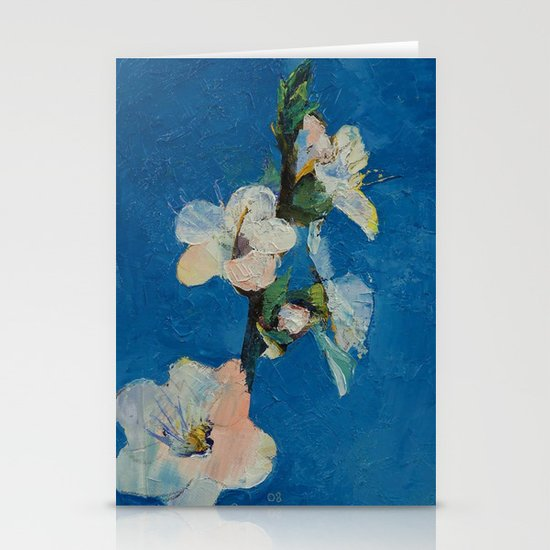 Apricot Blossom Stationery Cards