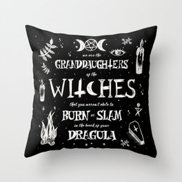 Witches You Couldn't Slam Throw Pillow