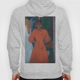 Edvard Munch - Red and White Hoody