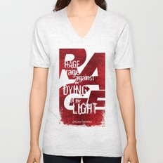 Rage Against the Dying of the Light 1 Unisex V-Neck