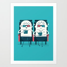 :::Cinema Couple::: Art Print