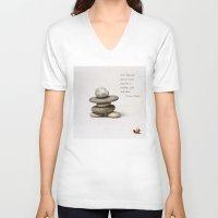 samurai V-neck T-shirts featuring Samurai by digital2real