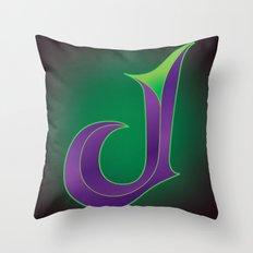 Alphabet J Throw Pillow