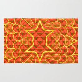 Orange trance Rug