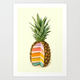 PINEAPPLE CAKE Art Print