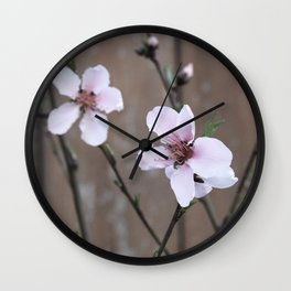 Peach Blossoms Wall Clock