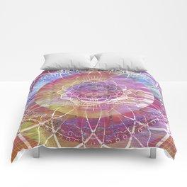 Glitch Mandala Comforters