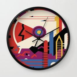 Mars planet abstract poster Wall Clock