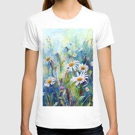 Watercolor Daisy Field T-shirt