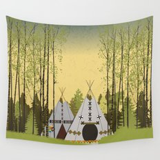 Tipis Wall Tapestry