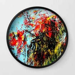 Floreal Abstraction Wall Clock