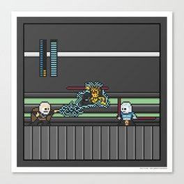 Mega Boss Battles - Dooku vs. Asajj & Savage Canvas Print