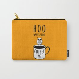 Coffee poster with owl Carry-All Pouch