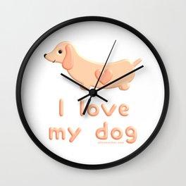 I love my Dachshund dog Wall Clock