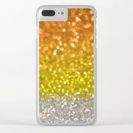 Candy Corn Bokeh Clear iPhone Case