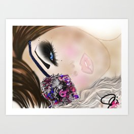 GCD Beautilicious Buccaneer Airbrushed Illustration Art Print