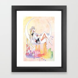 Can not Fight The Moonlight Watercolor Version Framed Art Print