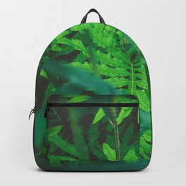 Jungle Green on a Rainy Day Backpack