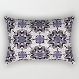 Plum Black and White Mosaic Pattern Rectangular Pillow
