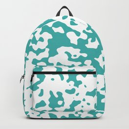 Spots - White and Verdigris Backpack