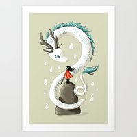 dragon Art Prints featuring Dragon Spirit by Freeminds