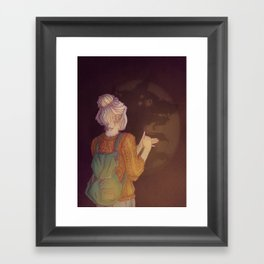 Shadows Lady Framed Art Print