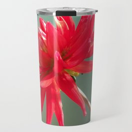 Red Imperfect Flower Travel Mug