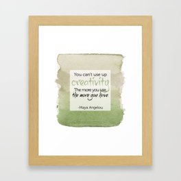 Inspirational Quote - Maya Angelou - Watercolor Framed Art Print