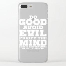 Spread the Love with this Peace of mind Tshirt Design Do good Clear iPhone Case