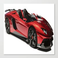 lamborghini Canvas Prints featuring Lamborghini Veneno by rosita