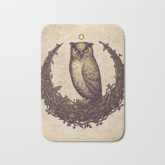 Owl Hedera Moon Bath Mat