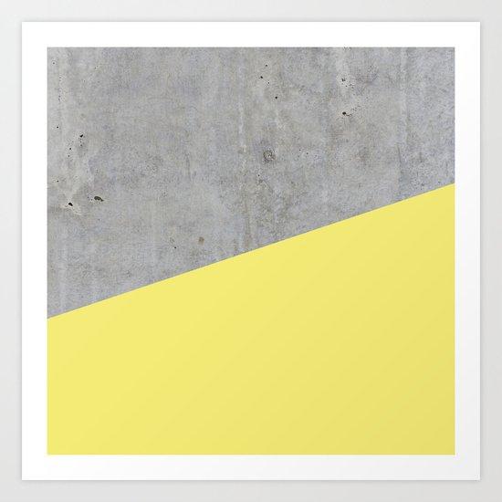 Concrete and yellow Art Print