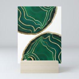 Emerald Agate Gold Glam #1 #gem #decor #art #society6 Mini Art Print
