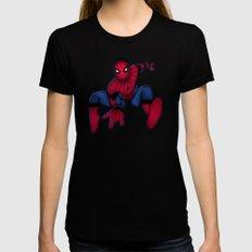 Spider-Man MEDIUM Womens Fitted Tee Black
