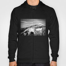 Snowy Mountain Peak Black and White Hoody