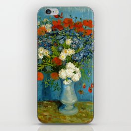 Vincent Van Gogh Vase With Cornflowers And Poppies iPhone Skin