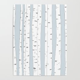 Aspen Forest - Blue Grey Poster
