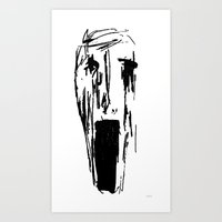 pain Art Prints featuring Pain by juju