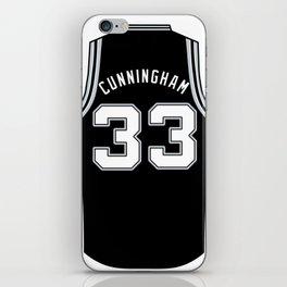 Dante Cunningham Jersey iPhone Skin