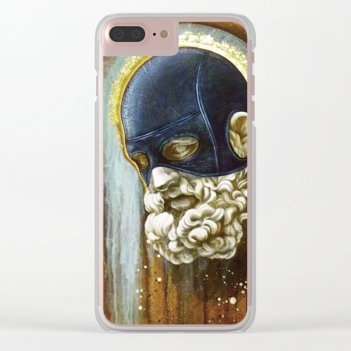 """""""Masked Hercules"""" Clear iPhone Case"""