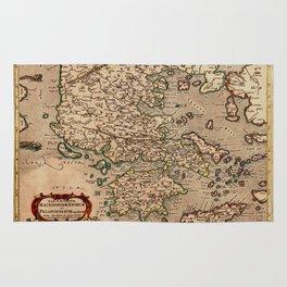 Map Of Macedonia 1695 Rug