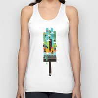 child Tank Tops featuring Paint your world by Picomodi