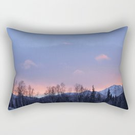 Chugach Mts Serenity Sunrise - II Rectangular Pillow