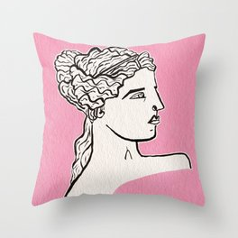 Venus de Milo statue Throw Pillow