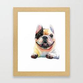 French Bulldog, Happy Dog Framed Art Print