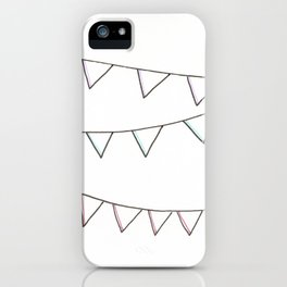 Salutations, Bunting Flags! iPhone Case