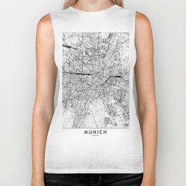Munich White Map Biker Tank