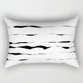 Abstract black lines Rectangular Pillow