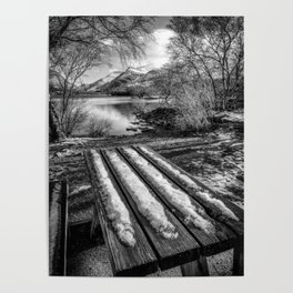 Lake Padarn Bench Poster